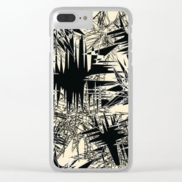 White Chaos Clear iPhone Case