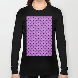 Burgundy Red on Lavender Violet Stars Long Sleeve T-shirt
