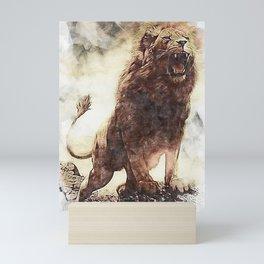 Wild Lion Mini Art Print