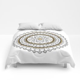 Golden Mandala Comforters