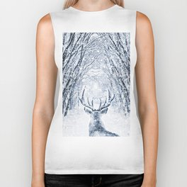 Winter deer Biker Tank