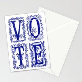 VOTE floral Stationery Cards