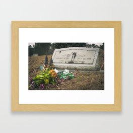 Gravesite of a Vet Framed Art Print