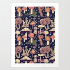 Much room for mushrooms Art Print