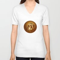 boxing V-neck T-shirts featuring Boxing (Boxe) by Anastassia Elias