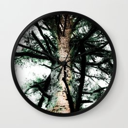 Network of Green Wall Clock