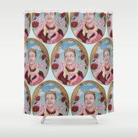 will ferrell Shower Curtains featuring King John by Kristen Ferrell