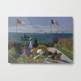 Garden at Sainte-Adresse Metal Print