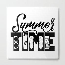 Summer TIME at the Beach Metal Print