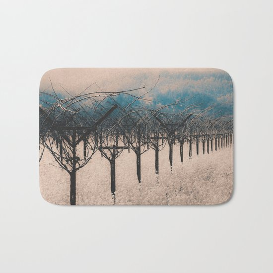 Winter Vineyard II - Nature's Orchestra Bath Mat
