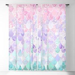 Mermaid Pastel Iridescent Blackout Curtain