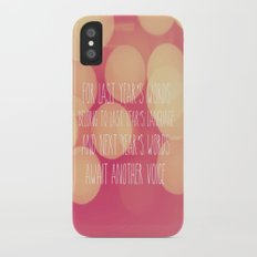 Last Years Words  Slim Case iPhone X