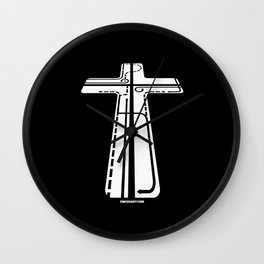 Confusianity (white on black) Wall Clock