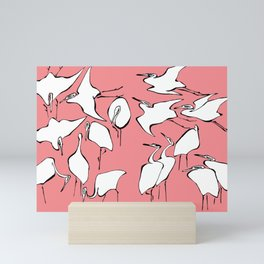 "Hokusai (1760-1849) ""Cranes from Quick Lessons in Simplified Drawing""(edited) Mini Art Print"