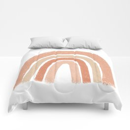 Rainbow, Blush, Orange Abstract Comforters