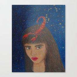Scorpio Zodiac Sign Portrait Canvas Print