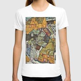 Egon Schiele - Crescent Of Houses II . Island Town T-shirt