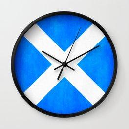 Vintage Scottish Flag - The Saltire Wall Clock