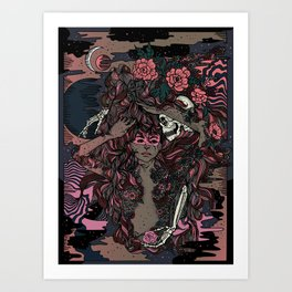 We only come out at night Art Print