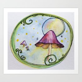 Magical Mushrooms Art Print