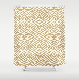 Putty Neutral Zebra Shower Curtain