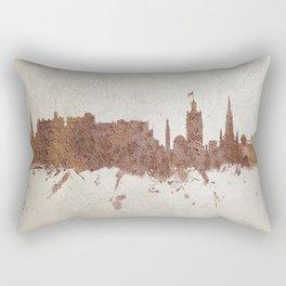 Edinburgh Scotland Rust Skyline Rectangular Pillow