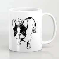 french bulldog Mugs featuring French bulldog by Pendientera