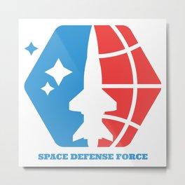 Space Defense Force Metal Print