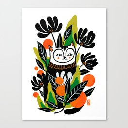 Mossy Cat Canvas Print