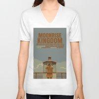 moonrise kingdom V-neck T-shirts featuring Moonrise Kingdom by FunnyFaceArt