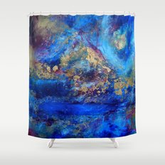 Gold Peaks Shower Curtain