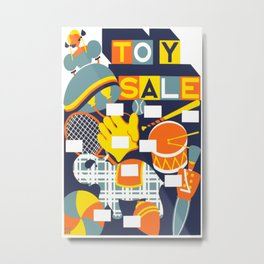 Vintage poster - Toy Sale Metal Print