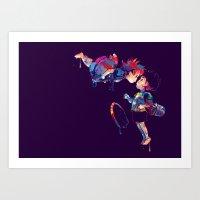 ponyo Art Prints featuring Ponyo by lauramaahs