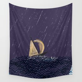 a journey whimsical sailboat (james peart artist) Wall Tapestry