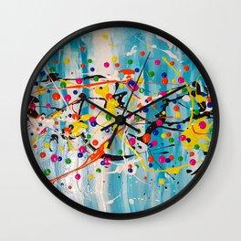 Confetti: Super Fun Dot Abstract Wall Clock