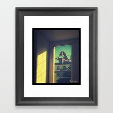Giant monster Framed Art Print