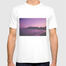 is there really anything better than a great sunset? MEDIUM White Mens Fitted Tee