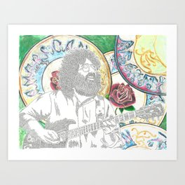 Jerry in Songs Art Print