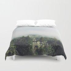Foggy Treetops Duvet Cover