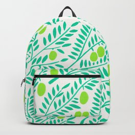 Olive Branches – Turquoise & Lime Palette Backpack