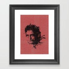 Johnny Cash botanical portrait Framed Art Print