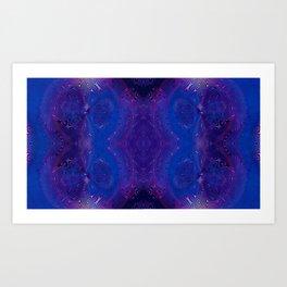 Dragonfly Midnight Swirls 1 Art Print