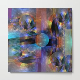 Modern colourful grunge abstract with patterns Metal Print
