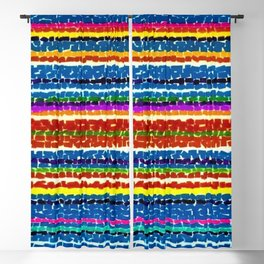 African American Masterpiece 'Light Blue Nursery No. 2'' by Alma Thomas Art Print Blackout Curtain