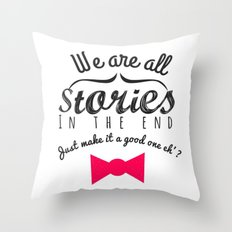 stories-doctor who Throw Pillow