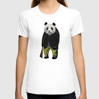 suits T-shirts featuring Animals in Suits - Giant Panda by Katadd