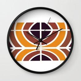 Vintage minimal brown scandinavian Wall Clock