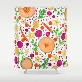 Fruits and vegetables pattern (19) Shower Curtain