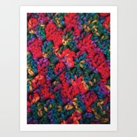 knit Art Prints featuring Knit by kirstenariel