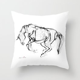 Horse sketch (Prancing) Throw Pillow